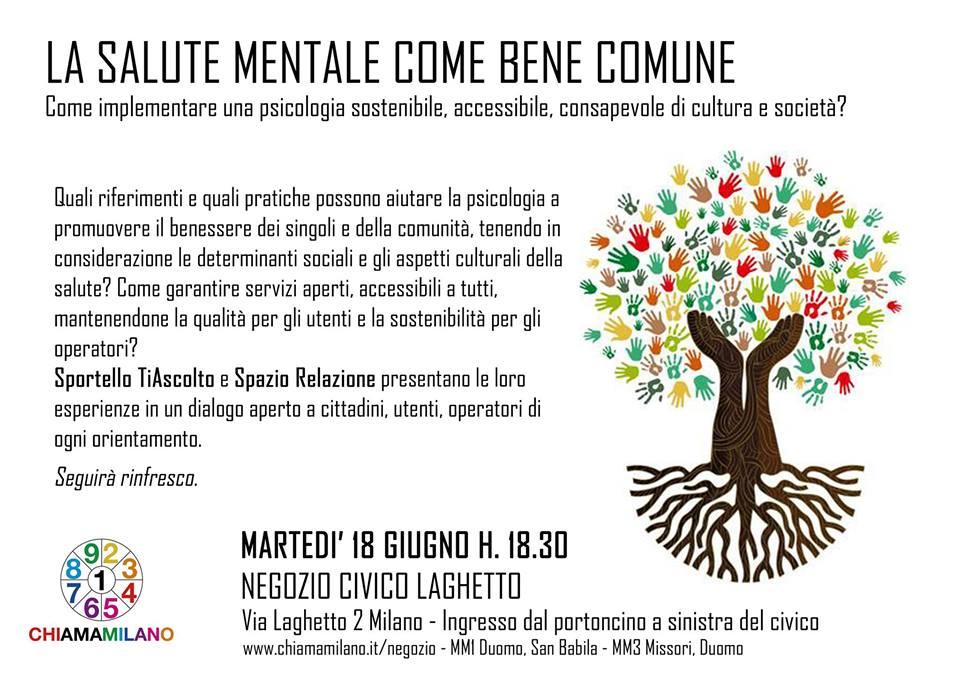 La Salute Mentale Come Bene Comune Come Implementare Una Psicologia Sostenibile Accessibile Consapevole Di Cultura E Societa Sportello Ti Ascolto